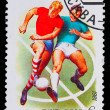 USSR - CIRCA 1981: A stamp printed in USSR, football, soccer, tw — Stock Photo