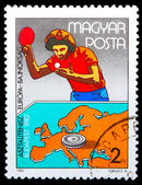 HUNGRAY - CIRCA 1982: A post stamp printed HUNGRAY, Table Tennis — Foto de Stock