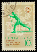 USSR - CIRCA 1971: A stamp printed in USSR, Winter Olympics 1971 — Stock Photo