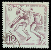 USSR - CIRCA 1971: A stamp printed in USSR, 5-year sports day of — Stock Photo