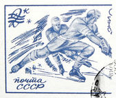 USSR - CIRCA 1976: A stamp printed in USSR, Olympic Games in Inn — Stock Photo