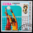 CUBA - CIRCA 1980: A stamp printed in CUBA, devoted Olympic Game - Stock Photo
