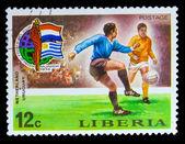 LIBERIA - CIRCA 1974: A post stamp printed LIBERIA, Netherlands — Stock Photo