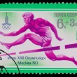 USSR - CIRC1980: stamp printed in USSR, Olympic Games in Mos — Stock Photo #15944403
