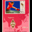 CHINA - CIRCA 1976: A post stamp printed CHINA, World Cup table — Stock Photo