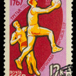 USSR - CIRCA 1963: A stamp printed in USSR, first Olympics of th — Stock Photo