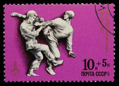 USSR - CIRCA 1980: A stamp printed in USSR, Olympic games Moscow — ストック写真