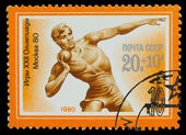 USSR - CIRCA 1980: A stamp printed in USSR, Olympic games Moscow — Stock fotografie
