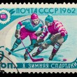 USSR - CIRCA 1962: A post stamp printed USSR, first winter Olymp — Stock Photo