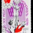 USSR - CIRCA 1976: A stamp printed in USSR, Summer Olympic Games — Stock Photo
