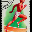 USSR - CIRCA 1981: A stamp printed in USSR, Running athletics,wh — Stock Photo
