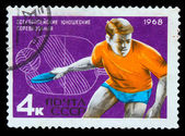 USSR - CIRCA 1968: A post stamp printed USSR, European youth tou — Stockfoto