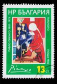 """保加利亚-大约 1982年: 在保加利亚,打印戳记表明""""钢琴 — 图库照片"""