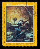 """キューバ-1972 年頃: a. のフェルナンデス""""を示しています、キューバで印刷スタンプ — ストック写真"""