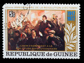 GUINEA - CIRCA 1977: A Stamp printed in GUINEA, shows 60 years o — Stock Photo
