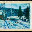 Постер, плакат: USSR CIRCA 1972: A stamp printed in USSR KF Yuon the end of