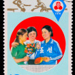CHINA - CIRCA 1976: A post stamp printed CHINA, World Cup table - Stockfoto