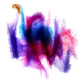 Resumo isolado azul roxo aquarela mancha raster illustrati — Foto Stock