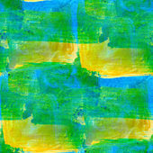 Abstract seamless hand painted green yellow watercolor backgroun — Stock Photo