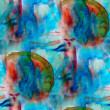 Tone blue green red seamless watercolor wallpaper brush strokes — Stock Photo