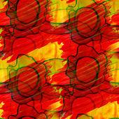 トーン黄色赤いシームレスな水彩画壁紙ブラシ ストローク — ストック写真