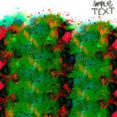 背景手緑赤水彩ブラシ テクスチャ分離 — ストック写真