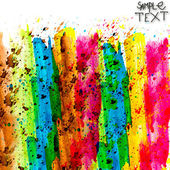 Background hand rainbow colorful watercolour brush texture isola — Stock Photo
