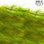 Background hand watercolour brush texture green isolated — Stock Photo