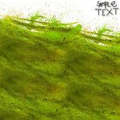 背景手水彩ブラシ テクスチャ緑分離 — ストック写真