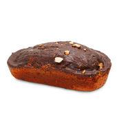 Dezert čokoládové ořechy dort izolované — Stock fotografie