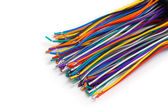 Colored wires are isolated — Stock Photo
