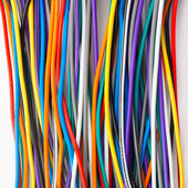 Colored wires background — Stock Photo
