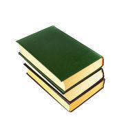 孤立在白色背景上的旧绿色书 — 图库照片