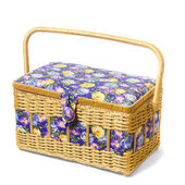 Vintage wicker basket isolated on white background — Stock Photo