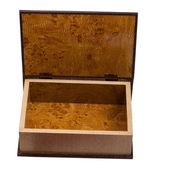 Cercueils de brun antique boîte en bois isolés sur fond blanc — Photo