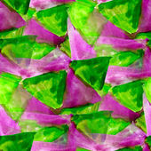 背景シームレスな水抽象的な緑の紫色の三角形 waterco — ストック写真