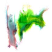 Mancha azul verde acuarela mano aislado mancha raster illustrati — Foto de Stock