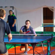 Stock Photo: Uryupinsk RUSSI- March 17: Athlete tennis, ping pong, RuslK