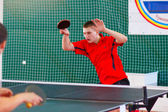 URYUPINSK- RUSSIA - MARCH 17: athlete table tennis, ping-pong, A — Stock Photo