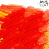 Hand rood geel aquarel borstel textuur behang — Stockfoto