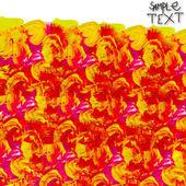 Rode gele hand aquarel borstel textuur behang — Stockfoto