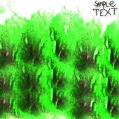 Kunst achtergrond groene hand aquarel textuur borstel — Stockfoto