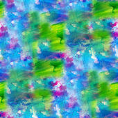 Art background seamless handmade blue green bright watercolor — Stock Photo