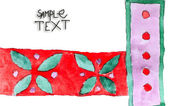 Alte rote blume lila symbol schmuck handgemacht aquarell — Stockfoto