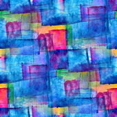 Seamless blue cubism abstract art texture watercolor wallpaper b — Stock Photo