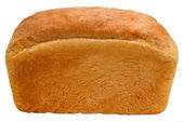 Loaf of bread baking delicious isolated (clipping path) — Stock Photo