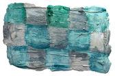 Kunst daub aquarel blauwe vierkante achtergrond abstracte papier textur — Stockfoto
