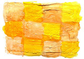 Art daub watercolor yellow brown background abstract paper textu — Stock Photo