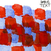Art watercolor blue red square background abstract paper texture — Stock Photo