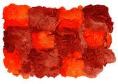Art daub watercolor brown orange square ornament background abst — Stock Photo